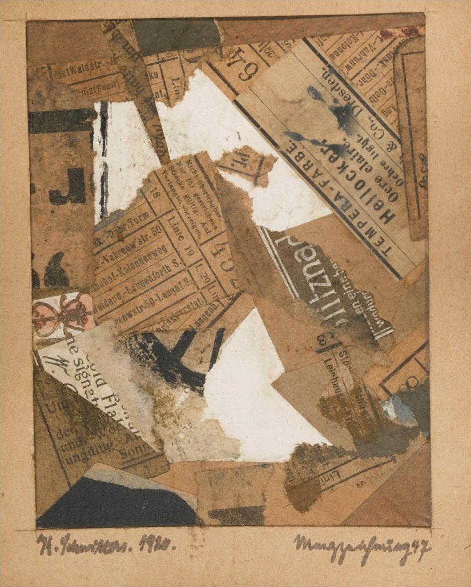 Коллаж. Курт Швиттерс. Метц-рисунок 47, 1920