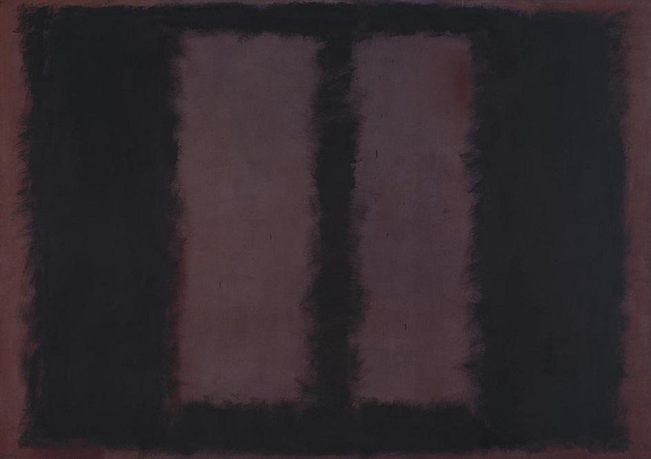 Акрил. Марк Ротко. Черное на коричневом. 1958
