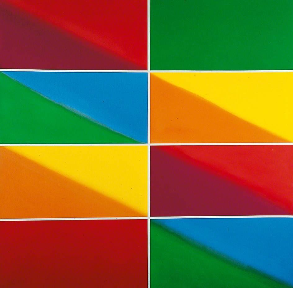 Акрил. Марк Ланкастер. Кэмбридж красный и зеленый. 1970