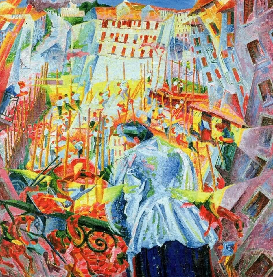 Формализм. Умберто Боччони. Улица входит в дом, 1911