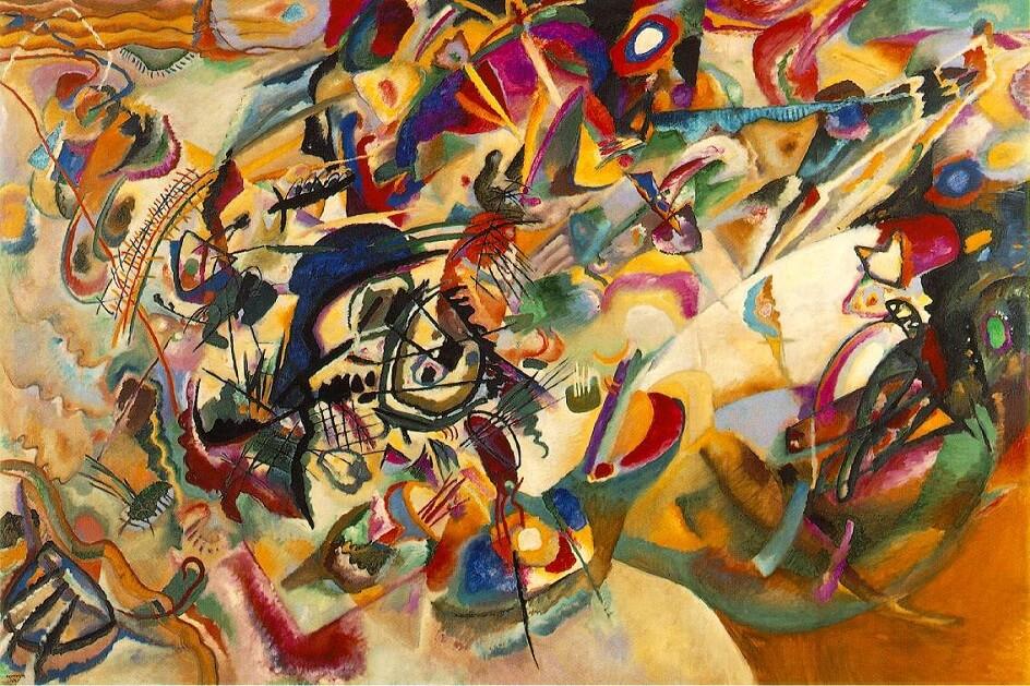 Формализм. Василий Кандинский. Картина Композиция VII, 1913