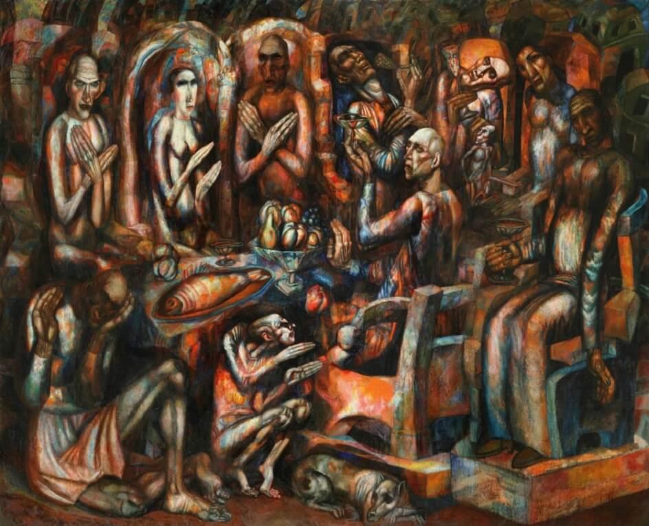 Формализм. Павел Филонов. Картина Пир королей, 1913
