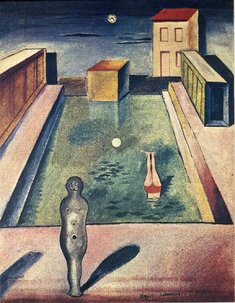 Формализм. Макс Эрнст. Погруженная в воды, 1919