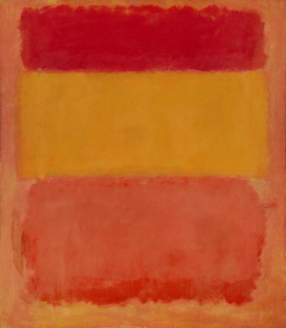 Формализм. Марк Ротко. Оранжевое, красное, жёлтое, 1961