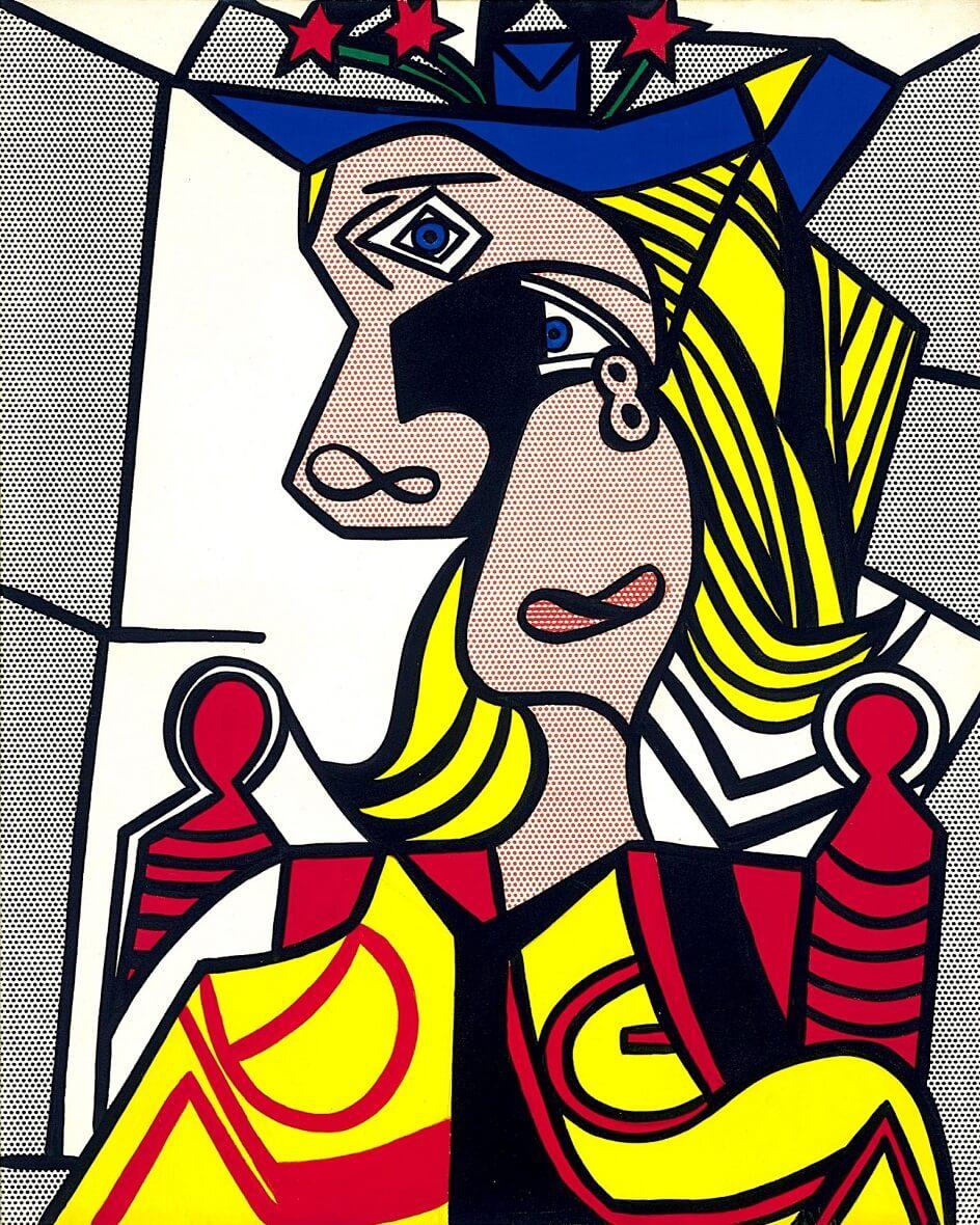 Формализм. Рой Лихтенштейн. Женщина в цветастой шляпе, 1963