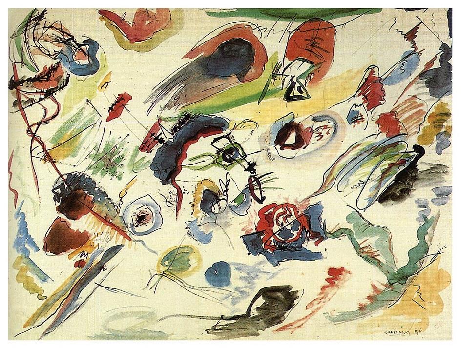 """Абстракционизм в живописи. Василий Кандинский. """"Первая абстрактная акварель"""""""
