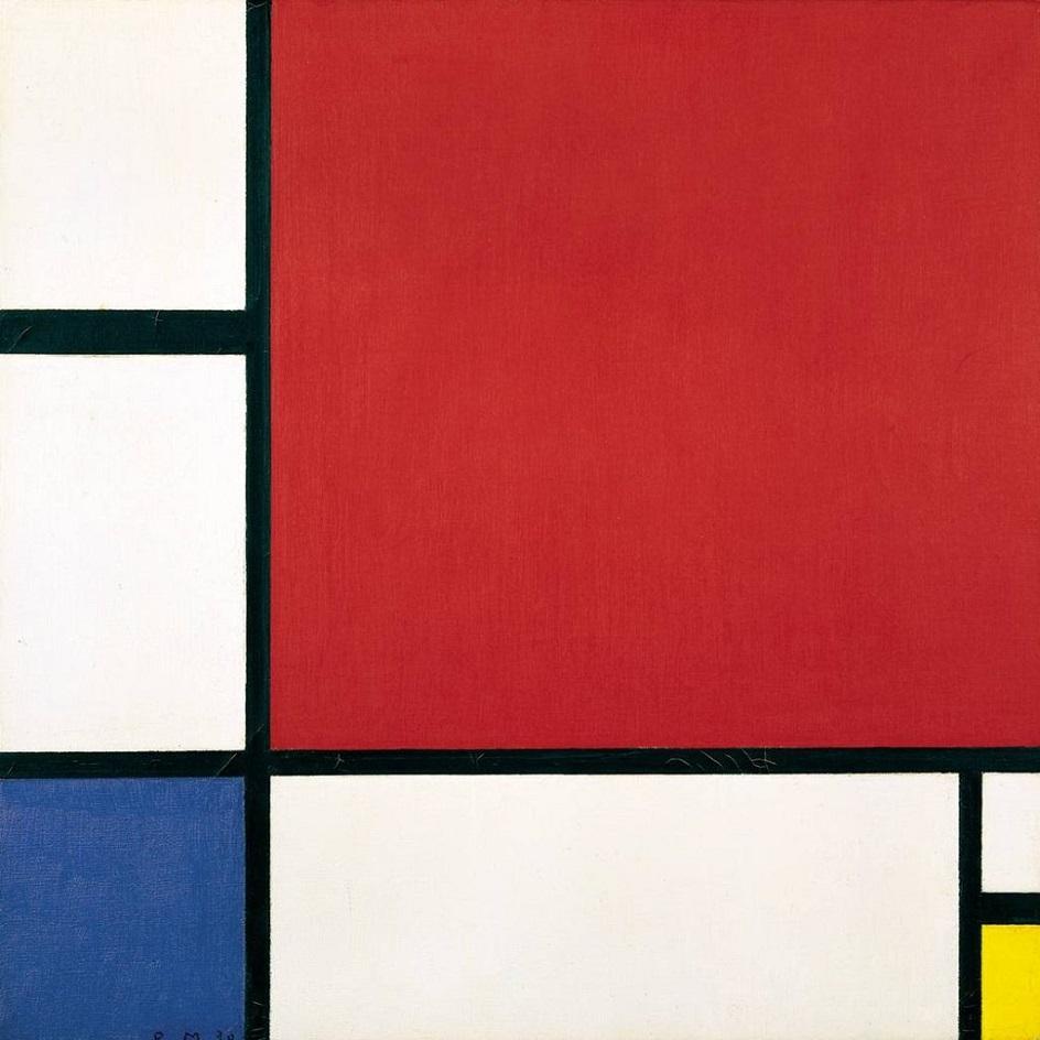 """Абстракционизм в живописи. Пит Мондриан. """"Композиция с красным, желтым и синим"""""""