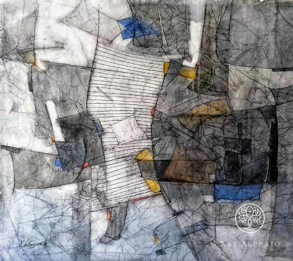 Абстракционизм в живописи. Юра Тумасян. Комп. N4, 2019