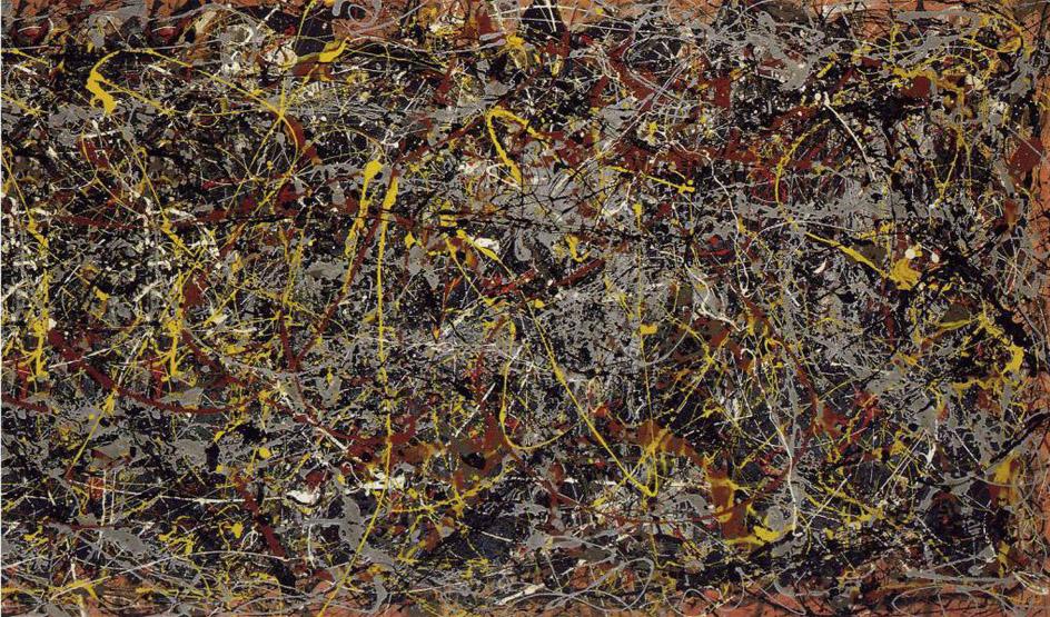 Абстракционизм в живописи. Джексон Поллок. Полотно №5