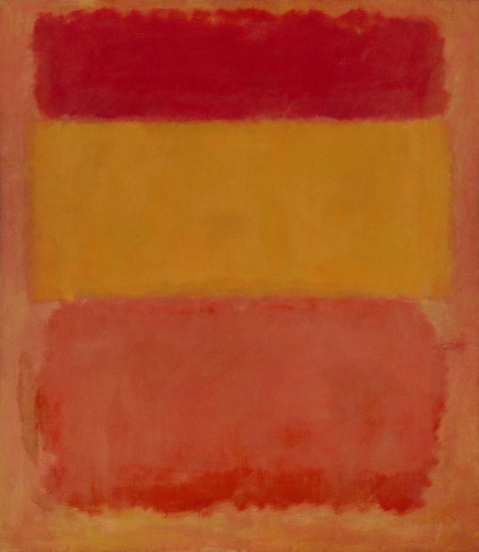 """Абстракционизм в живописи. Маркус Роткович. """"Оранжевое, красное, желтое""""."""