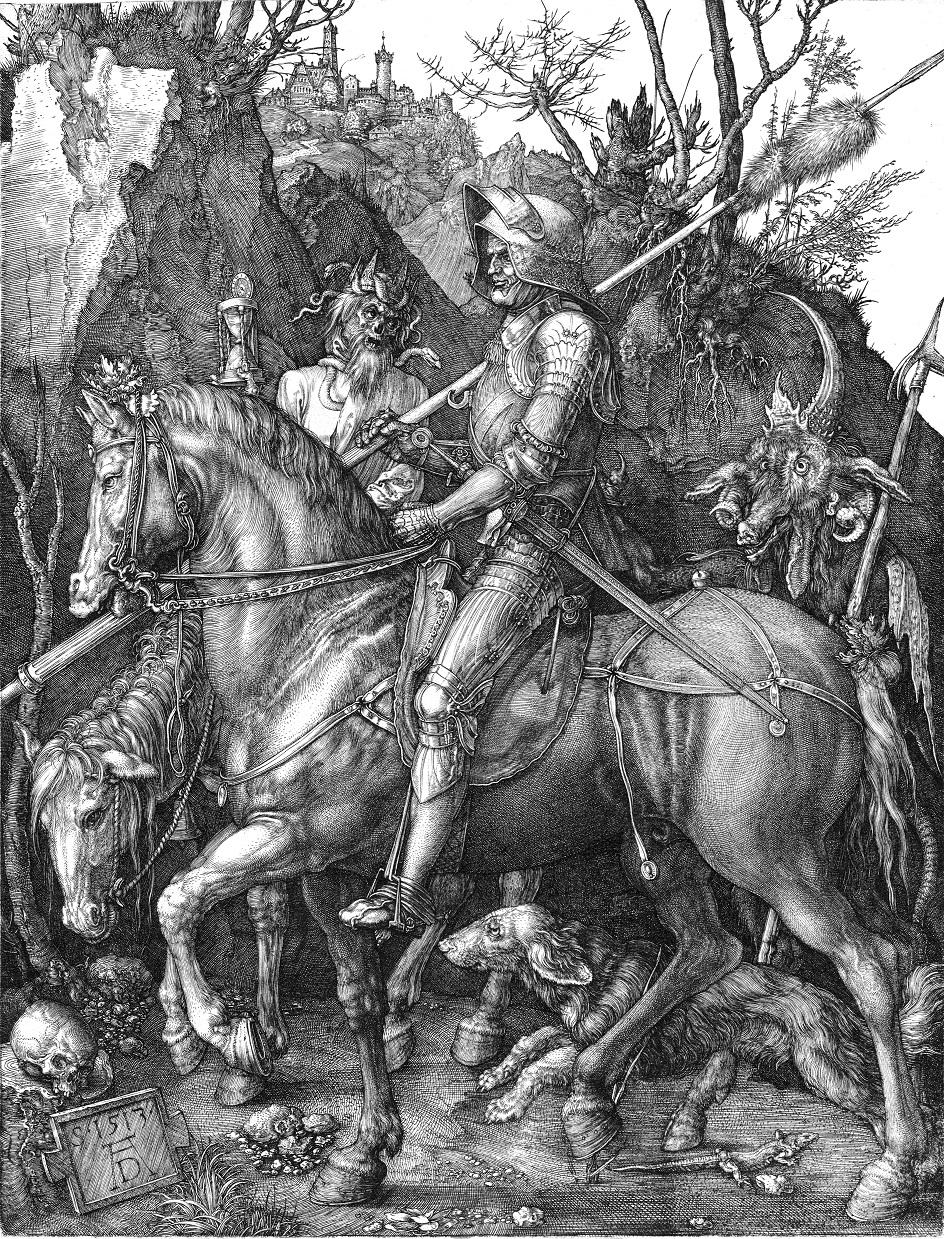 Альбрехт Дюрер. Рыцарь смерть и дьявол