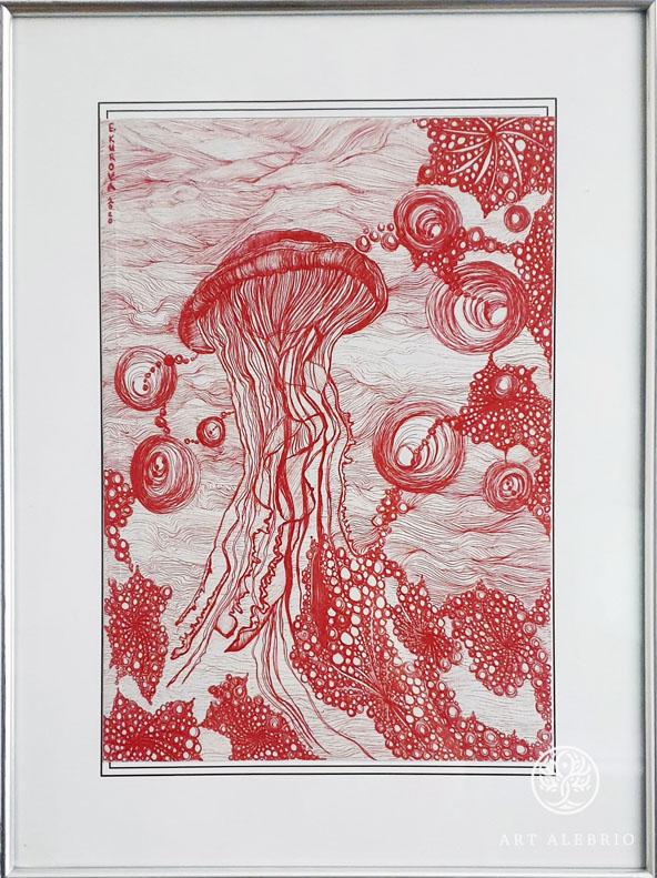 Графика. Евгения Курова. Быть медузой.