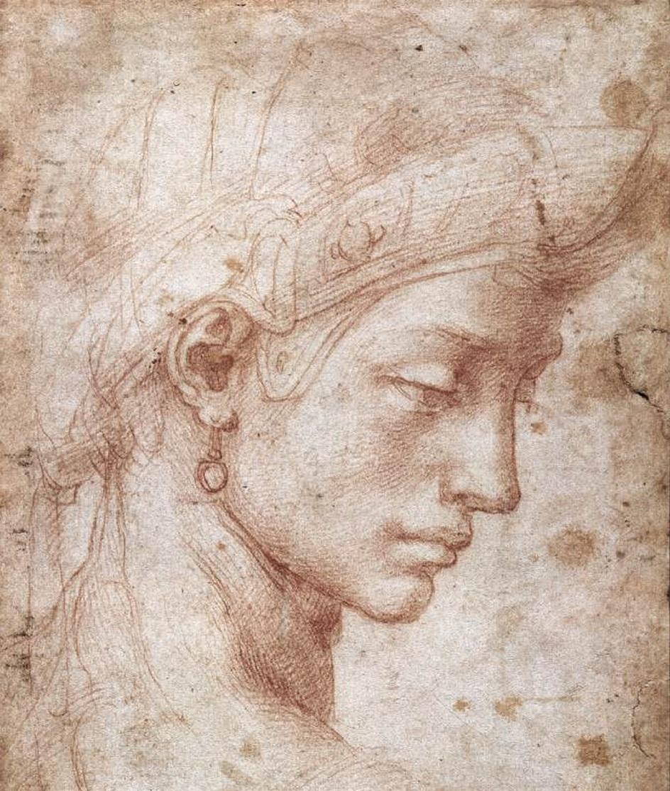 Графика. Микеланджело. Идеальная голова