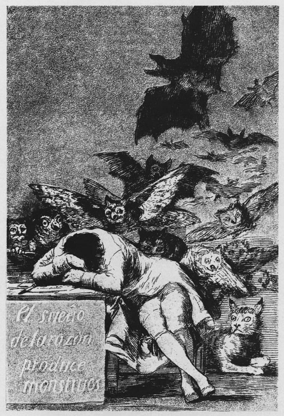 """Графика. Франсиско Гойя. """"Сон разума рождает чудовищ"""""""