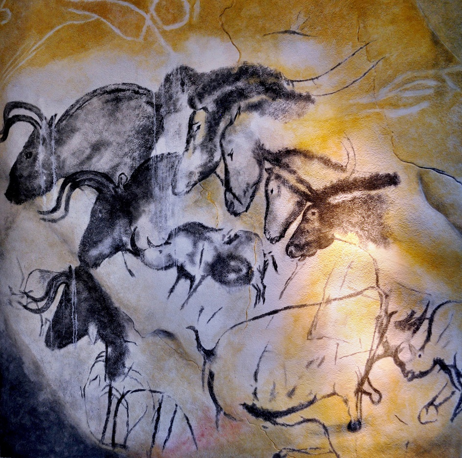 Графика. Копытные и носороги в пещере Шове