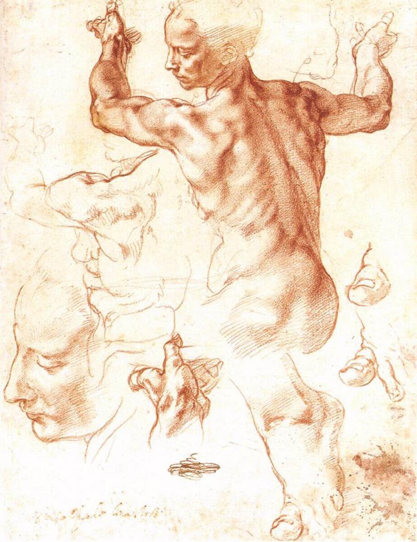 Графика. Микеланджело Эскиз