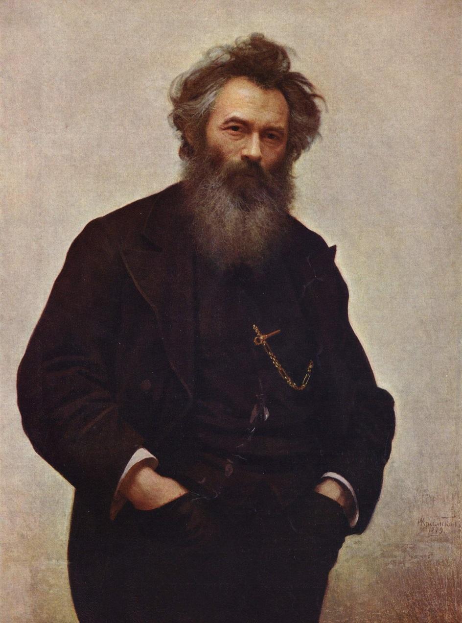"""Иван Шишкин. Иван Крамской. """"Портрет И. И. Шишкина"""", 1880"""