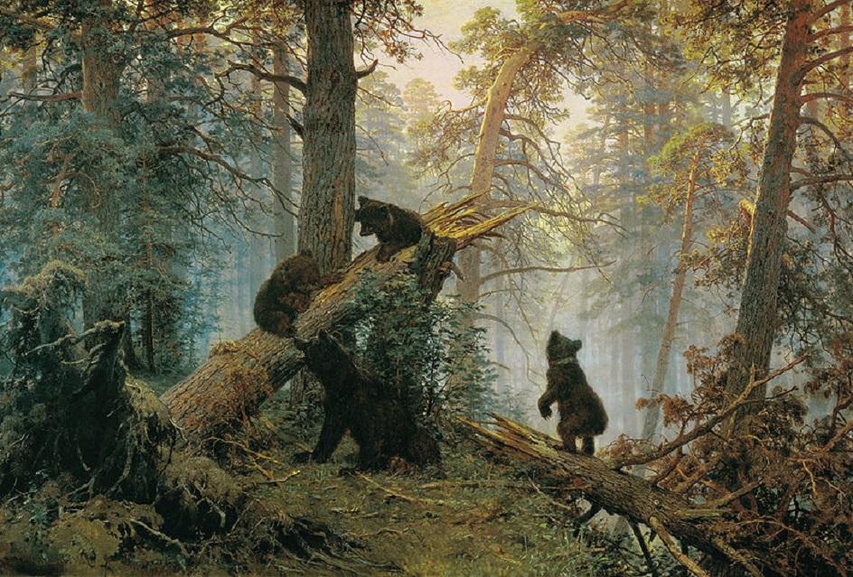 """Иван Шишкин. """"Утро в сосновом лесу"""", 1889"""
