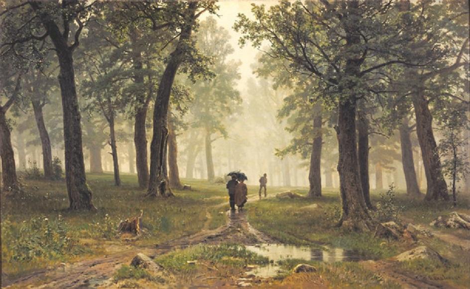 """Иван Шишкин. """"Дождь в дубовом лесу"""", 1891"""