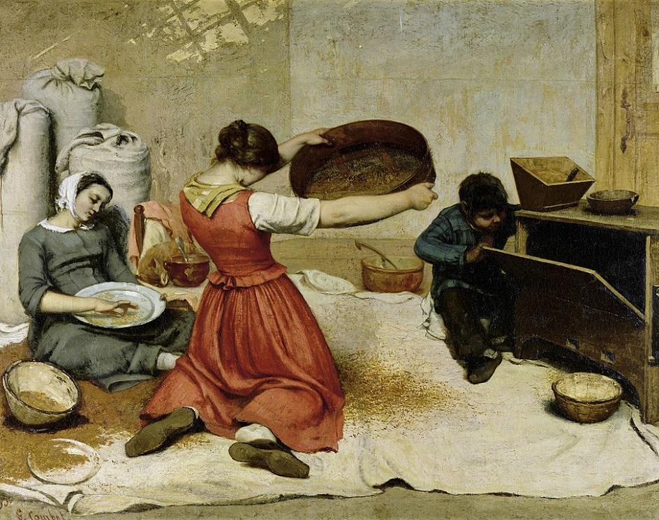 Реализм. Густав Курбе. Веяльщицы, 1853