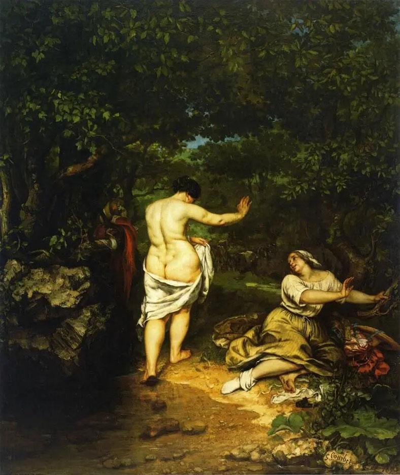 Реализм. Гюстав Курбе. Купальщицы. 1853