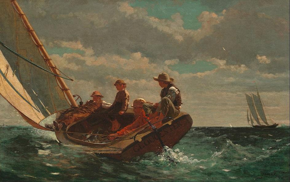 Реализм. Уинслоу Хомер. Попутный ветер, 1876
