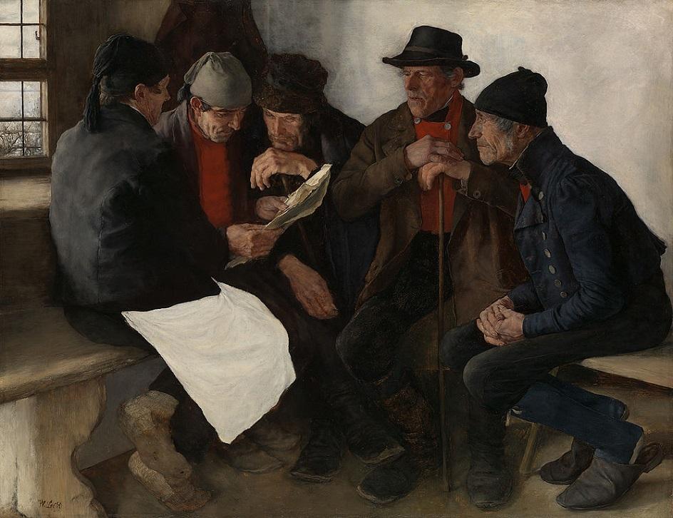 Реализм. Вильгельм Лейбль. Деревенские политики, 1877