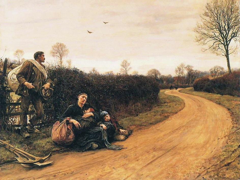 Реализм. Хуберт фон Херкомер. Тяжелые времена, 1885