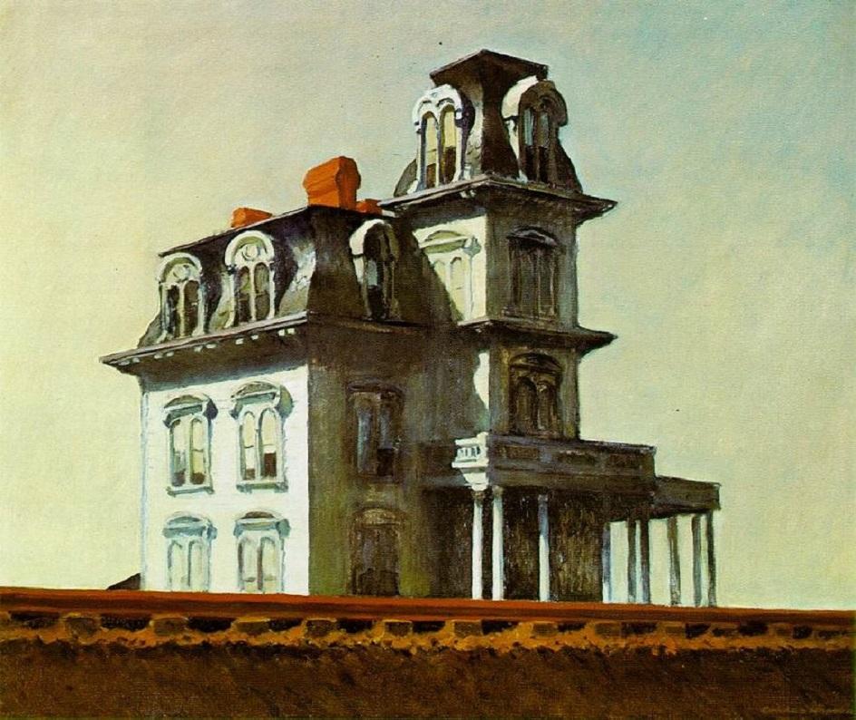 Реализм. Эдвард Хоппер. Дом у железной дороги, 1925