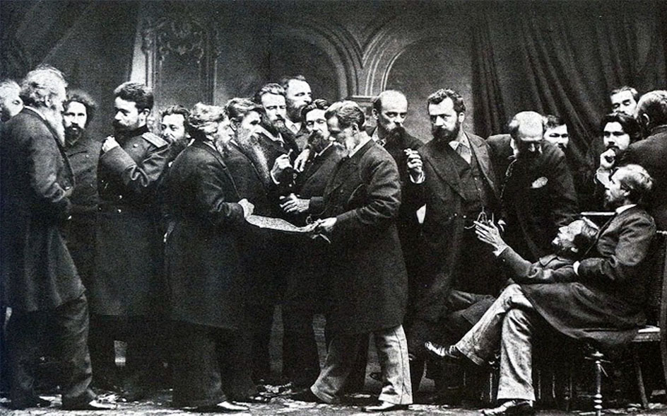 Передвижники. Группа художников Товарищества передвижных художественных выставок. 1885
