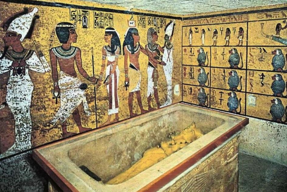 История живописи. Роспись в древнеегипетской усыпальнице