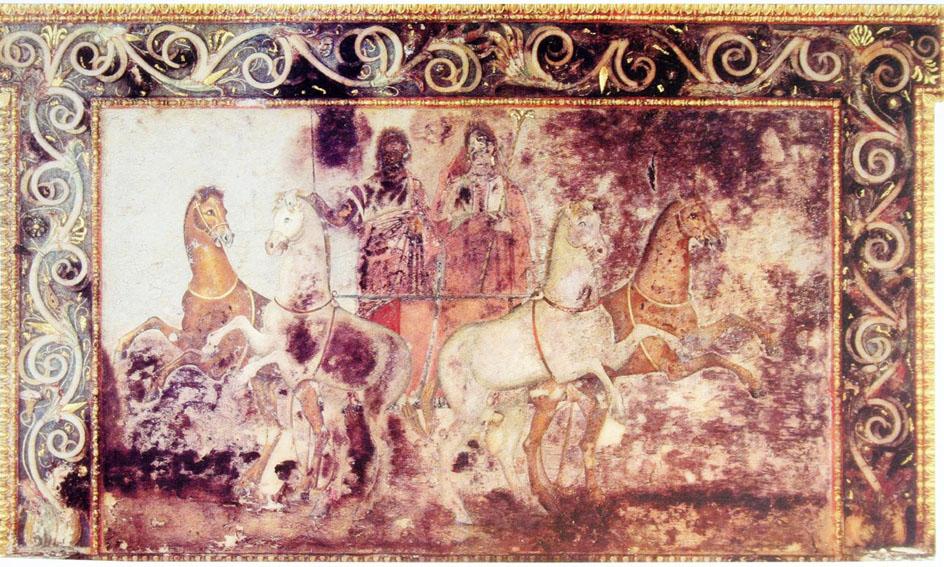Живопись. Аид и Персефона (древнегреческая фреска), 340г. до н.э.