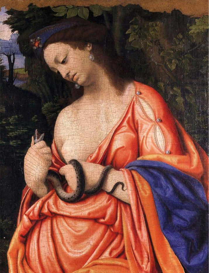 История живописи. Андреа Соларио. Клеопатра, 16 в.