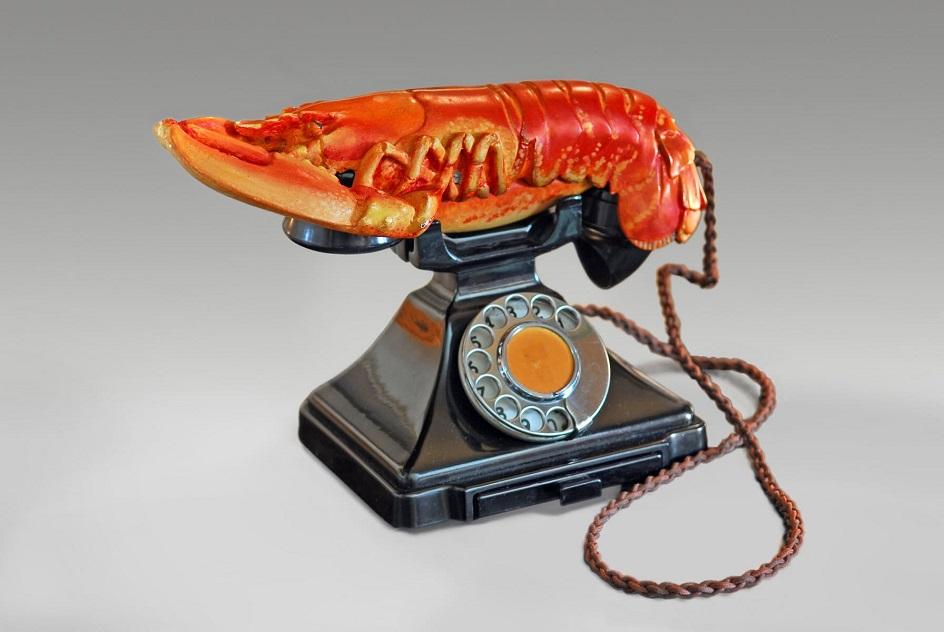 """Натюрморт. Сальвадор Дали. """"Телефон-омар"""""""