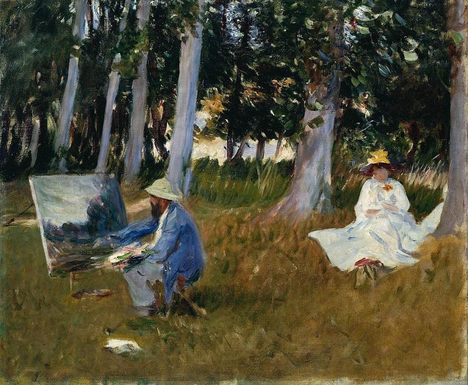 Пленэр. Джон Сингер Сарджент. Клод Моне, рисующий на опушке леса. 1885