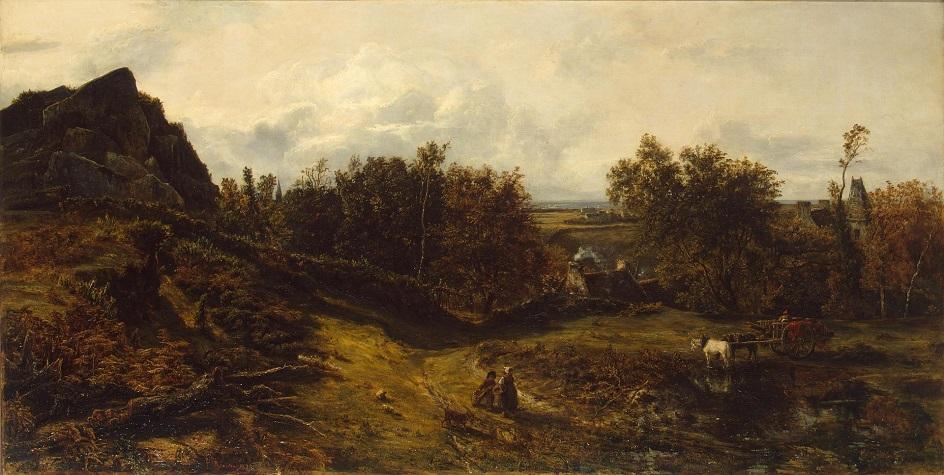 Пленэр. Теодор Руссо. Вид в окрестностях Гранвиля. 1833