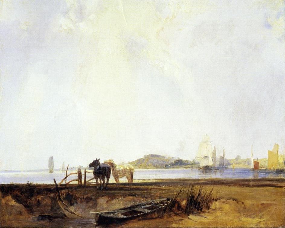 Пленэр. Ричард Паркс Бонингтон. Пейзаж близ Кильебофа. 1825