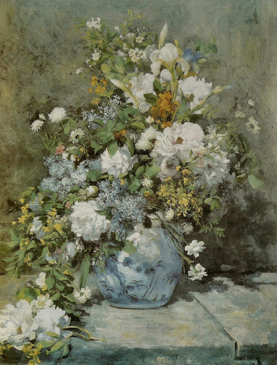 Пленэр. Огюст Ренуар. Весенний букет. 1866