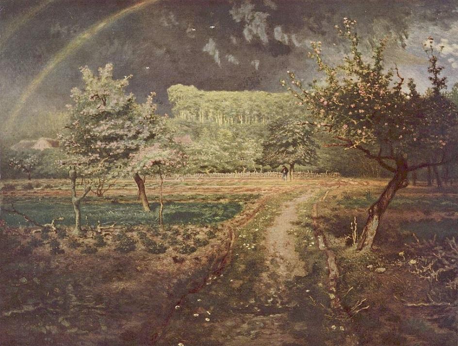 Пленэр. Жан-Франсуа Милле. Весна. 1873