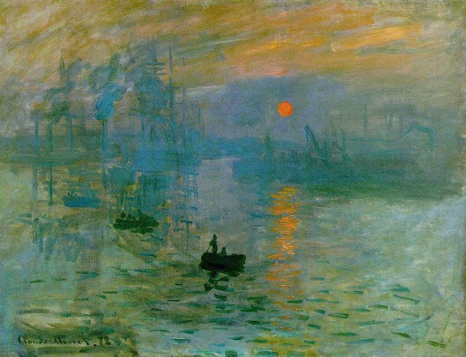 Пленэр. Клод Моне. Впечатление. Восходящее солнце. 1872