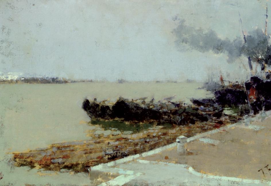 Пленэр. Франческо Филиппини. Венецианская лагуна. 1892