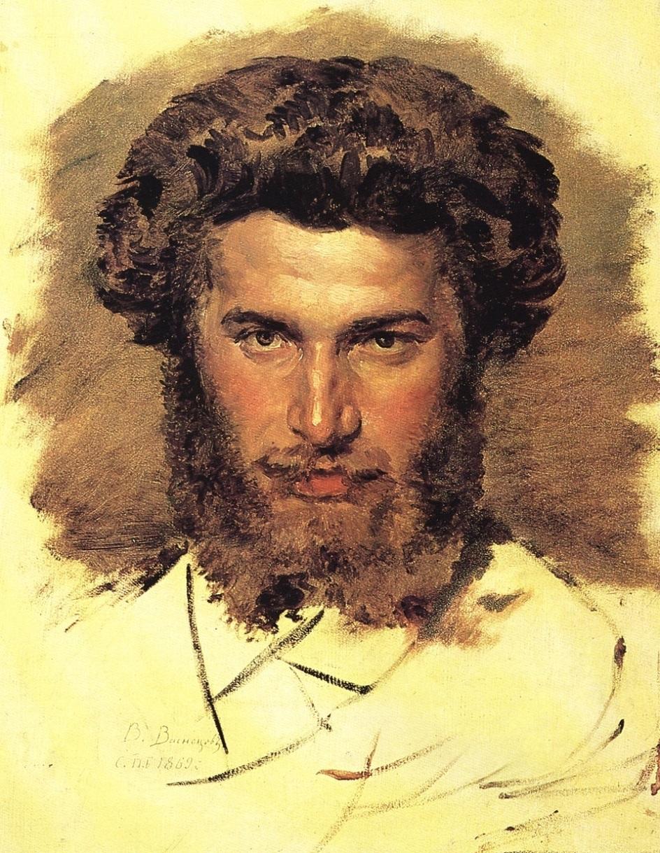 """Архип Куинджи. Виктор Васнецов. """"Портрет Архипа Куинджи"""", 1865"""