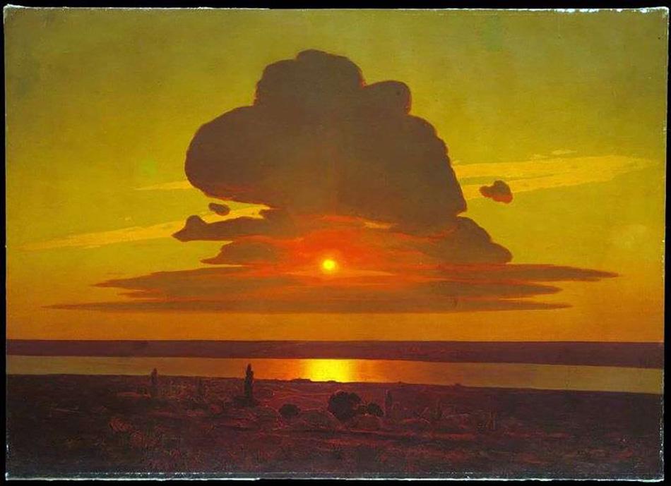 Архип Куинджи. Красный закат. 1905-1908