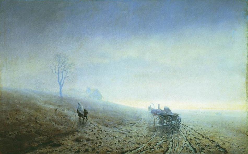 Архип Куинджи. Осенняя распутица. 1870