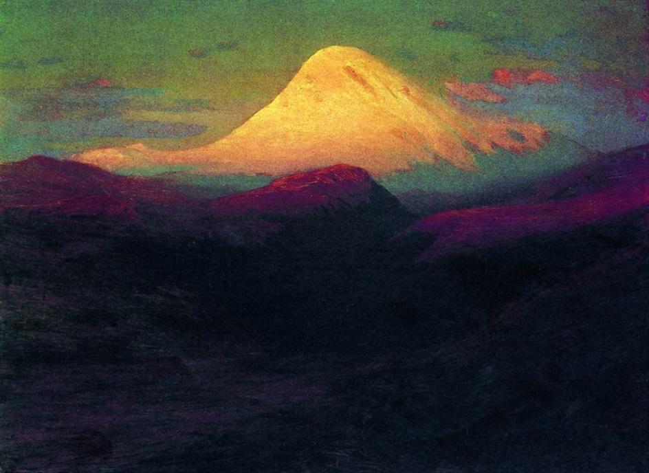 """Архип Куинджи. """"Эльбрус вечером"""", 1908"""
