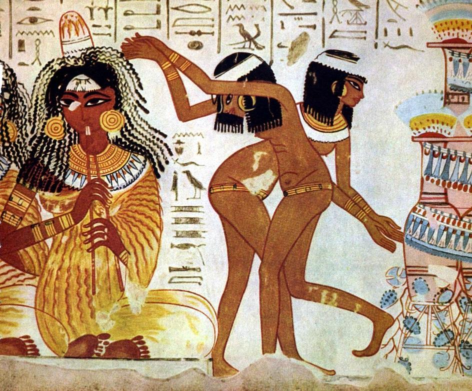 Искусство ню. «Танцы на пиру» (Древнеегипетская фреска)