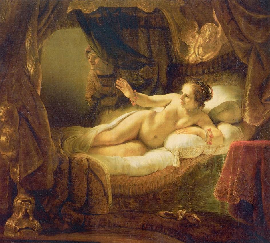 Картина в жанре ню. Рембрандт. «Даная»
