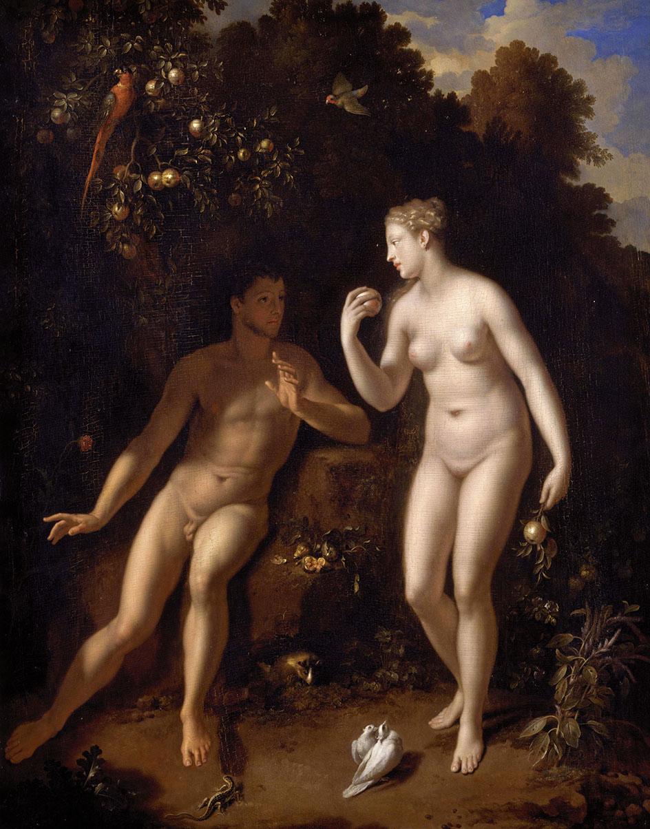 Ню в живописи. Адам и Ева. Ван дер Верфф,