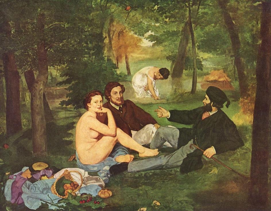 Скандальная картина ню. Клод Моне. «Завтрак на траве»