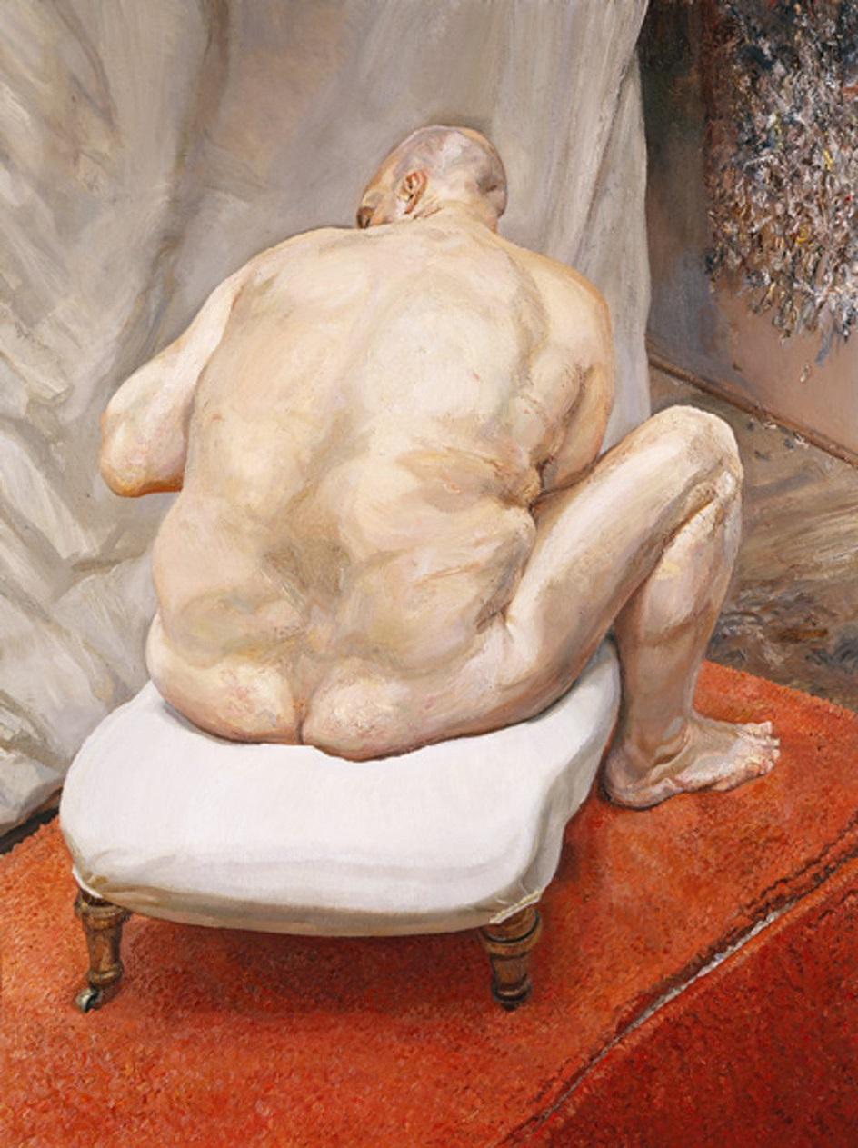 Ню в современном искусстве. Люсьен Фрейд. «Обнажённый мужчина, вид сзади»